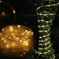 TOMSHINE 5 M/16ft LED Solar Luces de La Cuerda resistente al Agua Al Aire Libre 50 Led Luces de La Cuerda Luz de la Secuencia de Luz Sensor para la Navidad