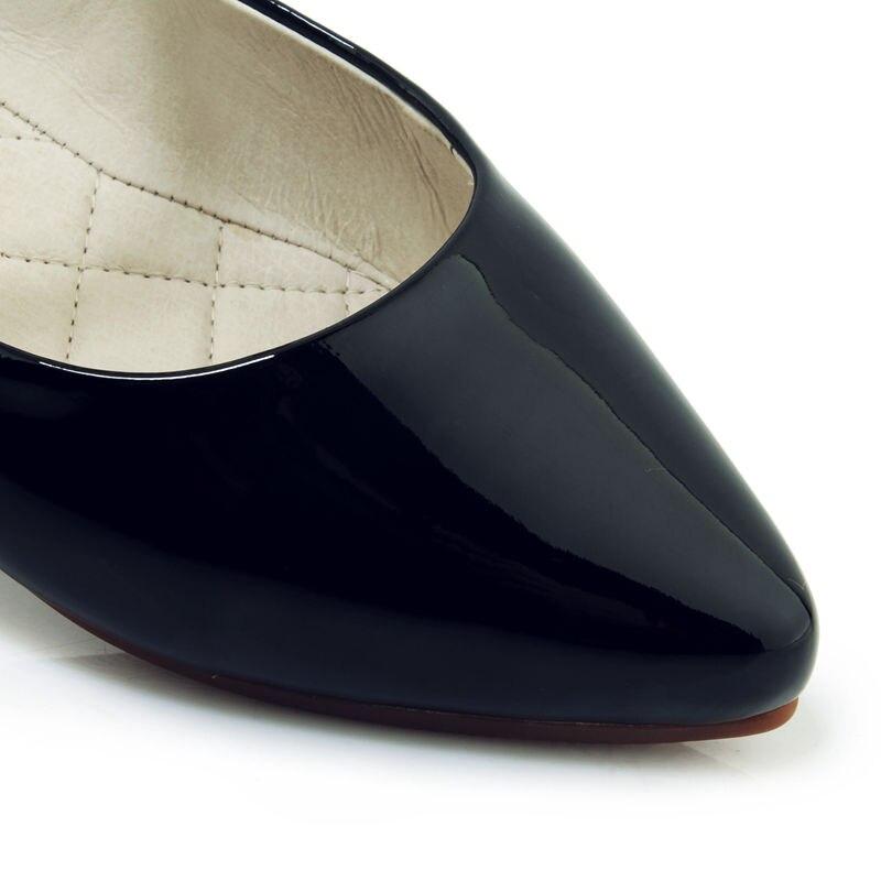 Cuir Chaussures Femmes Confortable En 2019 Brevet Apricot Janes Femme Doux Profonde wine Peu Doublure noir Appartements Casual D'été Mary Ribetrini v0nzZO0