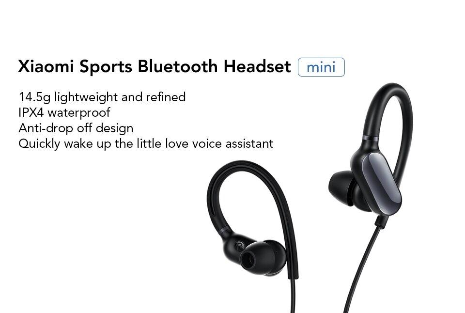 Original Xiaomi Mi Bluetooth Earphone mini Version Sport Wireless Headset IPX4 Waterproof Bluetooth 4.1 Headset (8)