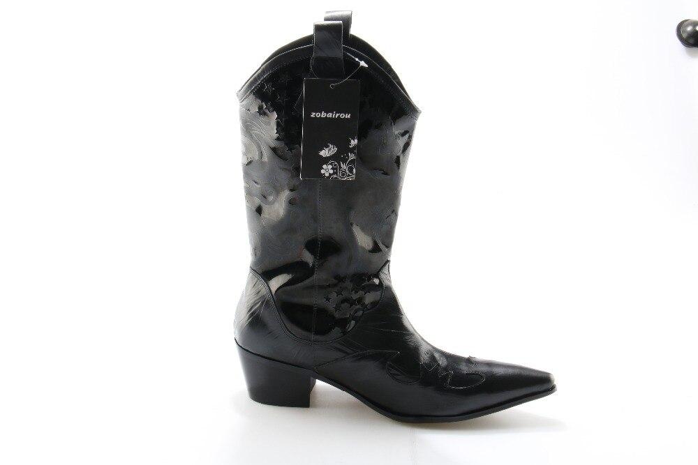 Invierno Nueva Hombres As as Vaca Cuero Chelsea Rodilla Picture Militar Moda 2018 Picture Negro Zobairou Genuino Fresco Puntiagudos Zapatos Hombre Botas De 5qB6zUT