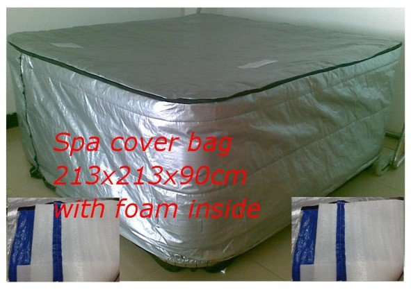 spa cover bag with foam inside size 244 x 244 x 90cm / 213x213x90cm hot tub bag and spa cap avaliable for any size,shape customize hot tub cover bag and spa cap size 244 x 244 x 30 5cm 8 ft x 5 ft x 12 inch any shape and size is avaliable