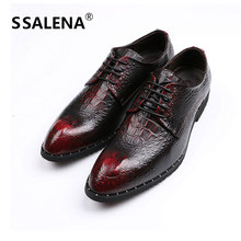 Men Fashion Oxford Business Leather Shoes Soft Casual Breathable Shoes Men Pointed Toe Lace-Up Business Shoes AA12292