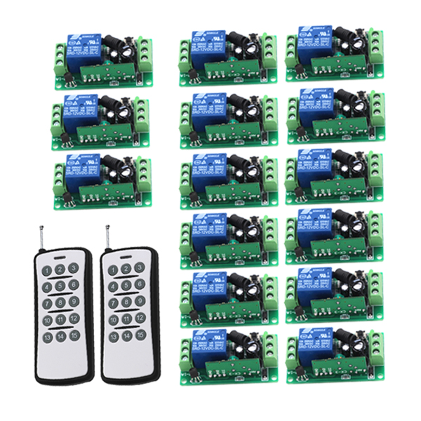 New DC9V 12V 24V Wireless RF Remote Control Switch Transmitter Receiver 10A Relay 1CH Remote Controller 315MHz 433Mhz кроссовки boss green boss green bo984amtpq60
