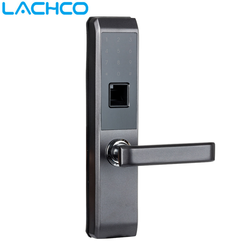 LACHCO 2019 Biometric Electronic Door Lock Smart Fingerprint, Code,Card, Key Touch Screen Digital Password Lock for home L18008S