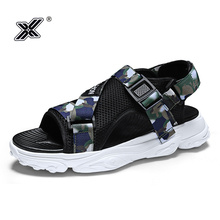 X 2019 Newest Summer Outdoor Beach Camouflage Men Sandals Flat Casual Hollow Waterproof Mesh Walking Man Shoes Sandalias Hombre