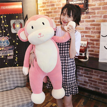 Fancytrader Super Soft Anime Monkey Plush Pillow Doll Cute Stuffed Cartoon Animals Monkey Toys for Kids Gifts 2 Sizes 2 Colors