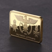 Commemorative Coin Germany Bomber Golden Square Collection Gift Arts Gifts Souvenir(China)