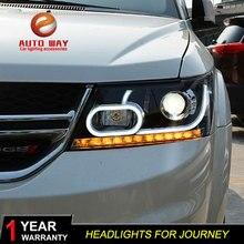 Набор для автостайлинга для Dodge Journey фары 2009-2018 Journey светодиодные фары фара led проектор DRL фара hid Bi-Xenon