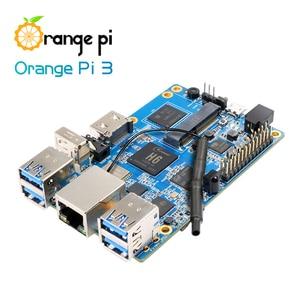 Image 2 - Turuncu Pi 3 H6 2GB LPDDR3 + 8GB EMMC flaş Gigabyte Ethernet portu AP6256 WIFI BT5.0 4 * USB3.0 desteği Android 7.0, ubuntu, Debian