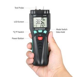 Image 5 - Измеритель влажности для дерева, гигрометр, измеритель влажности растений с 7 режимной подсветкой, хранение данных для цемента