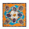 130 130cm Luxury Brand Scarves 2016 100 Twill Silk Scarf Women Handkerchief Pashmina Shawl Print Metal