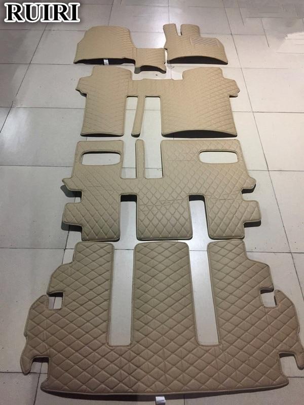Good! Custom Full Set Car Floor Mats + Trunk Mat For Right Hand Drive Mitsubishi Delica D5 8 Seats 2018-2007 Waterproof Carpets