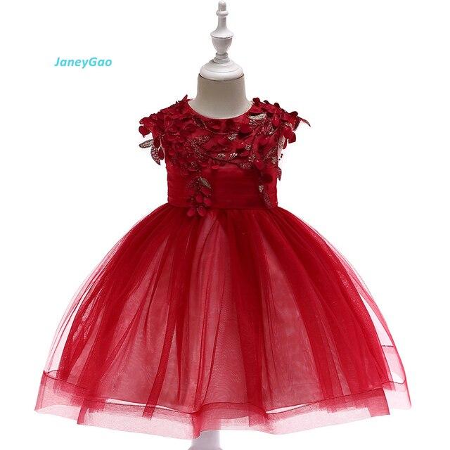 c12477f2189 JaneyGao Flower Girl Dresses For Wedding Party Little Girl Birthday  PartyFormal Dress Yellow Kids Cute Korean Style 2019 New