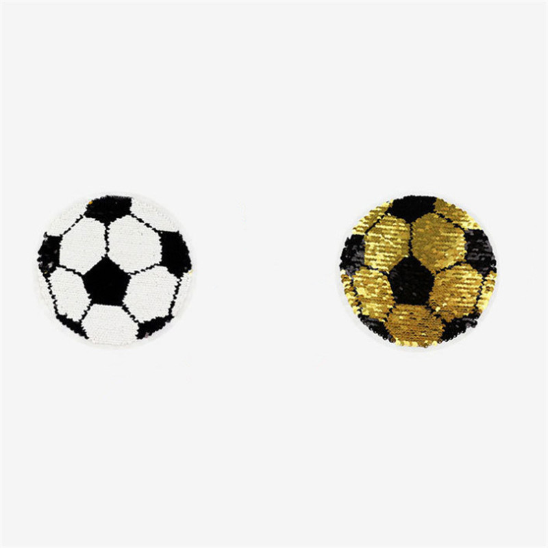 T shirt Women 19cm football flip the double sided sequins deal with it girl patches for clothing 3d t shirt mens Christmas gift