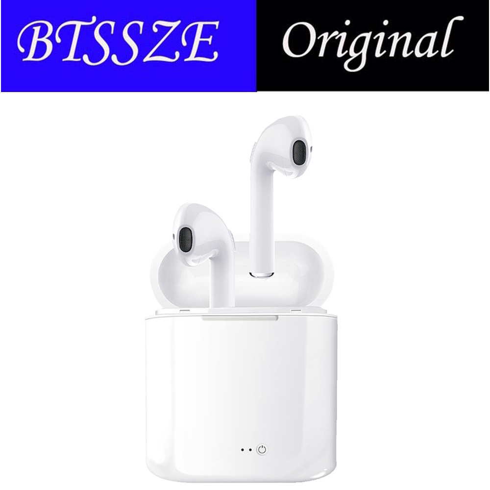 Original i7 TWS Bluetooth Earphone Headset Earbuds Wireless libre With Mic Portable Stereo EarBud For android for iphone