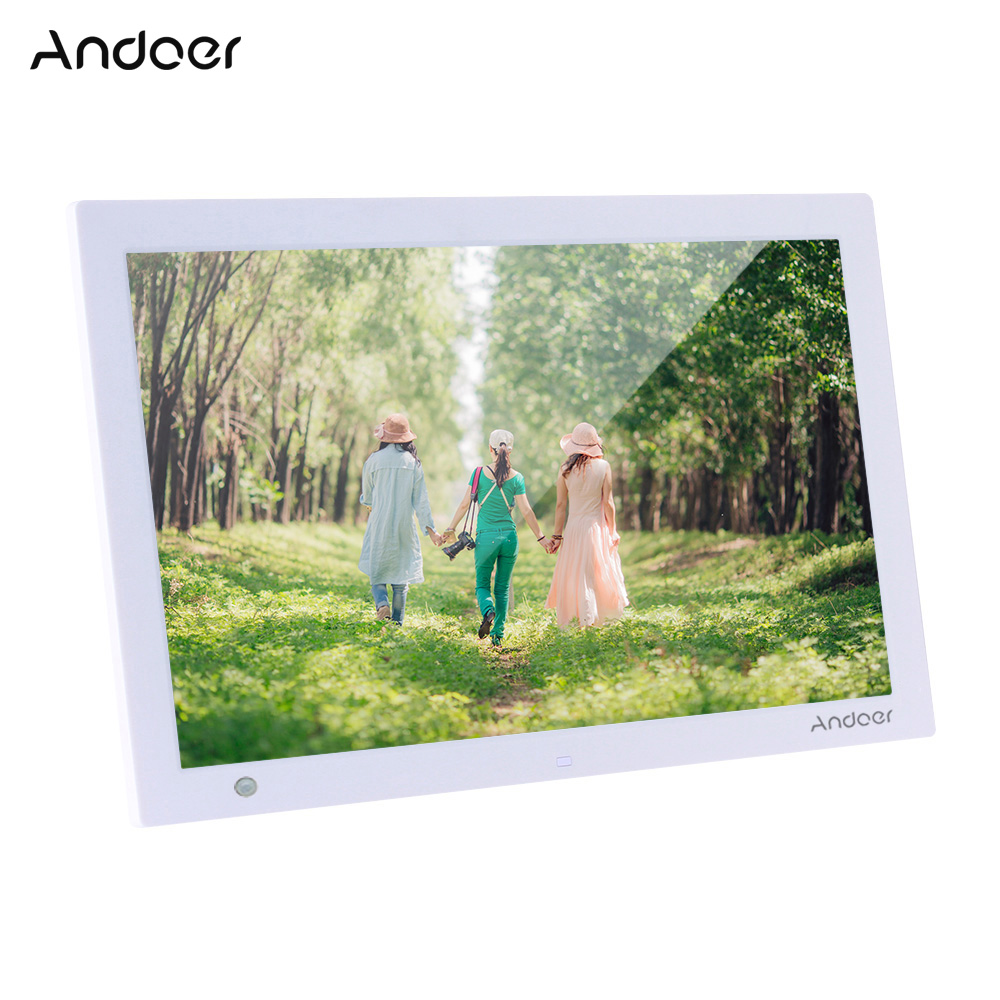 Andoer 15.4 Inch HD Digital Photo Frame Electronic Picture Album 1080P Video Music Player with Motion Sensor Scroll Subtitle-in Digital Photo Frames from Consumer Electronics    1