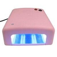 36W UV Lamp Light Gel Curing Timer Nail Dryer + Full Nail kit set + FREE Giftsv women makeup nails beatty make up tool EU plug