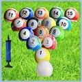 Em estoque 7 polegada Snookball Gigante, Mesa de bilhar Bola De Futebol para Snookball, 16 pcs 3 # Bola de Snooker, Entrega Rápida de Boa Qualidade