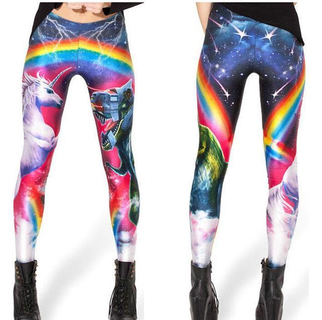 Hot Supernova Sale Womens LEGGINGS Digital Printed Milk Vintage Fitness Pants