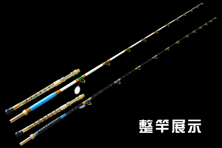 1.8M JIGGING rod boat rod Pure craftsmanship trolling fishing rod deep sea rod FUJI ring and Xingtai ring option metal handle ilure rod butt support for boat rod jigging and popping rods full metal with eva comfortable rod holder sea fishing tools
