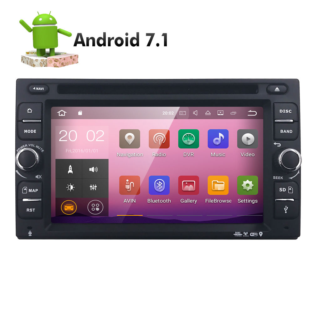 quad core android 7 1 4g wifi double 2 din car dvd player. Black Bedroom Furniture Sets. Home Design Ideas