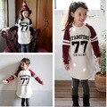 Children Girls Tops Tees Autumn Brand Wear Long Sleeve girls t shirt dress fashion letter printed Sweatshirts girl casual cloth