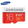 SAMSUNG MicroSD Карты Памяти 16 Г SDHC EVO + Класса 10 Micro SD UHS C10 TF Trans Flash Бесплатная Доставка в Исходном 16 ГБ TF карты