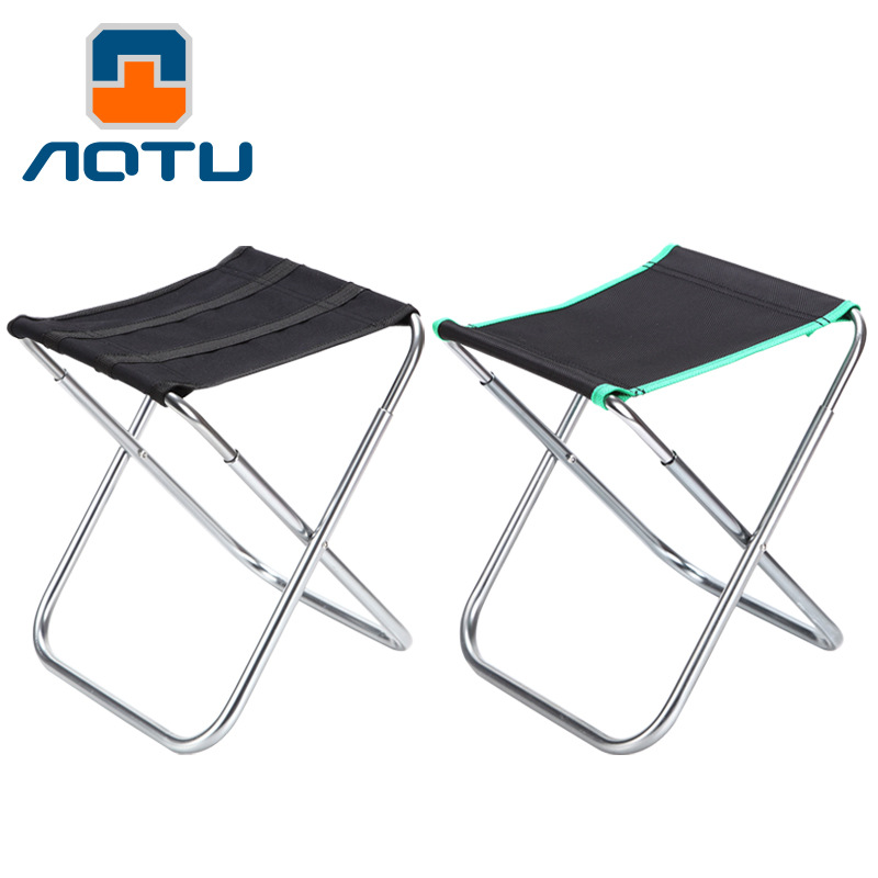 Outdoor Folding Chair  Aluminum Alloy Fishing Camping Chair BBQ Stool Folding Stool Portable Travel Train Chair
