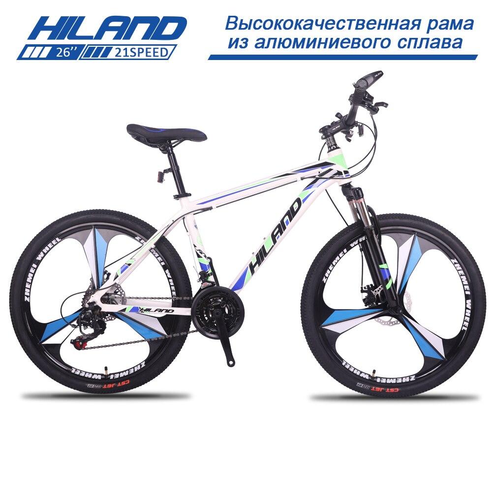 HILAND 26 Pouces Vélo 21 Vitesse Engrenages VTT Suspension Vélo avec Shimano TZ50 Dérailleur et frein à disque