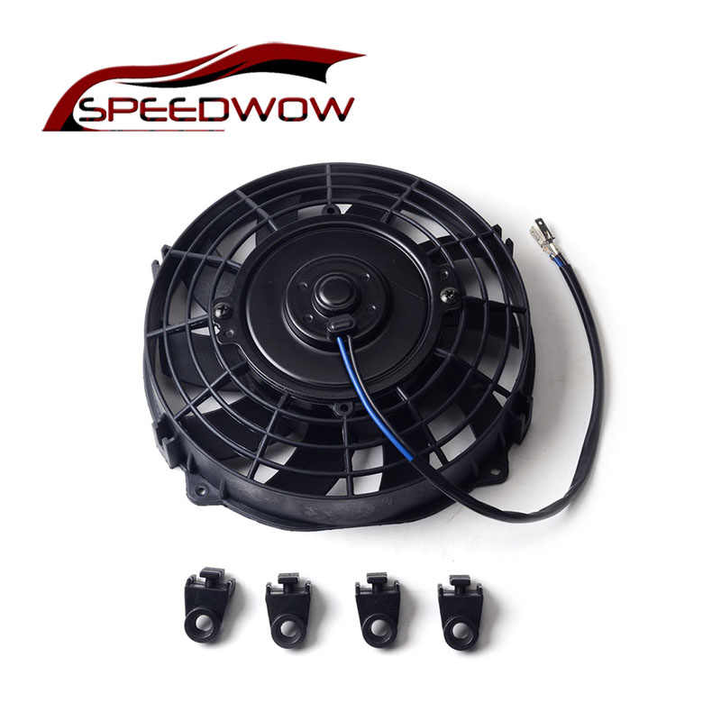 "Speedwow Universal 7 ""Motor Mesin Radiator Oil Cooler Pendingin Listrik Tarik Push Fan Radiator Engine Cooling Fan 12V 80W"
