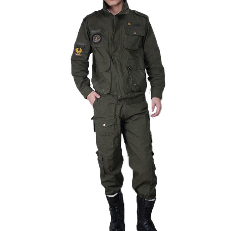 Mens Outdoor Hunting Coat Hunter Clothes Jacket+pants 101 Airborne Division Overalls Us Multicam Set Army Military Tactical Suit