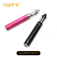 100% Original Aspire K3 Snabbstartssats (2ML K3 Tank och 1200mah K3 Batteri) Ecigs Aspire K3 Startpaket VS Aspire K2 1st / Lot