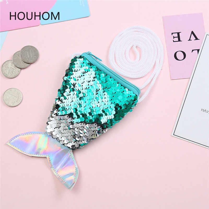 Mermaid Party Sequins Coin Purse Wallet Bag Birthday Party Decorations Kids Baby Shower Bridal Shower Event Party Diy Supplies