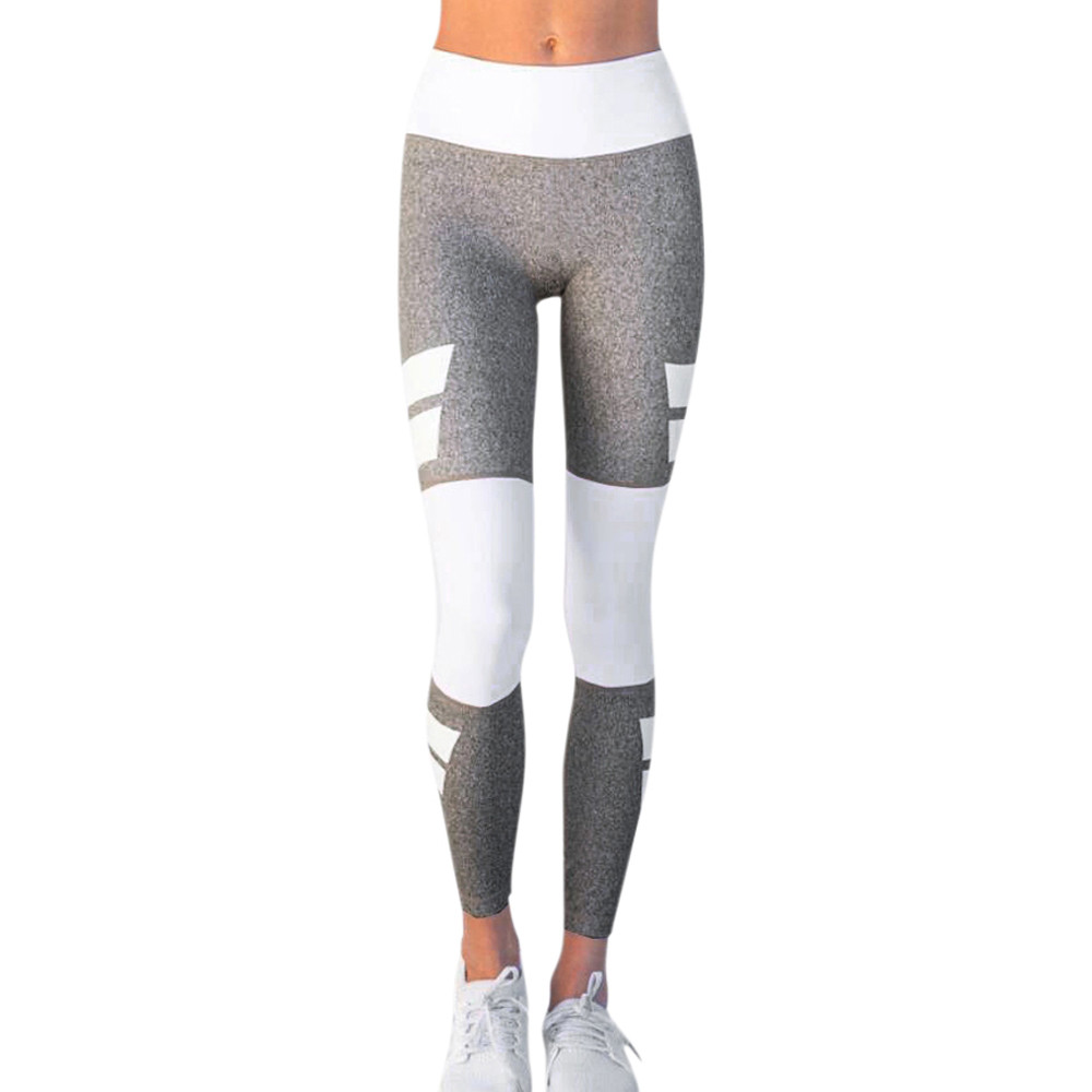 Women Fashion Fitness Leggings Color Block High Waist Push Up Pants Slim Bodycon Trouser Sportswear Academia Mulher #BF