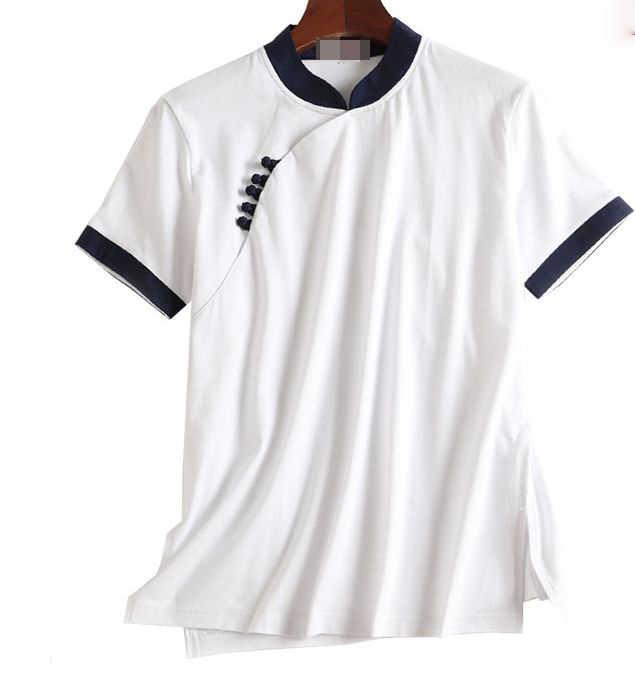 ユニセックス夏の綿半袖太極拳の制服武術太極拳スーツレイカンフー武道シャツ