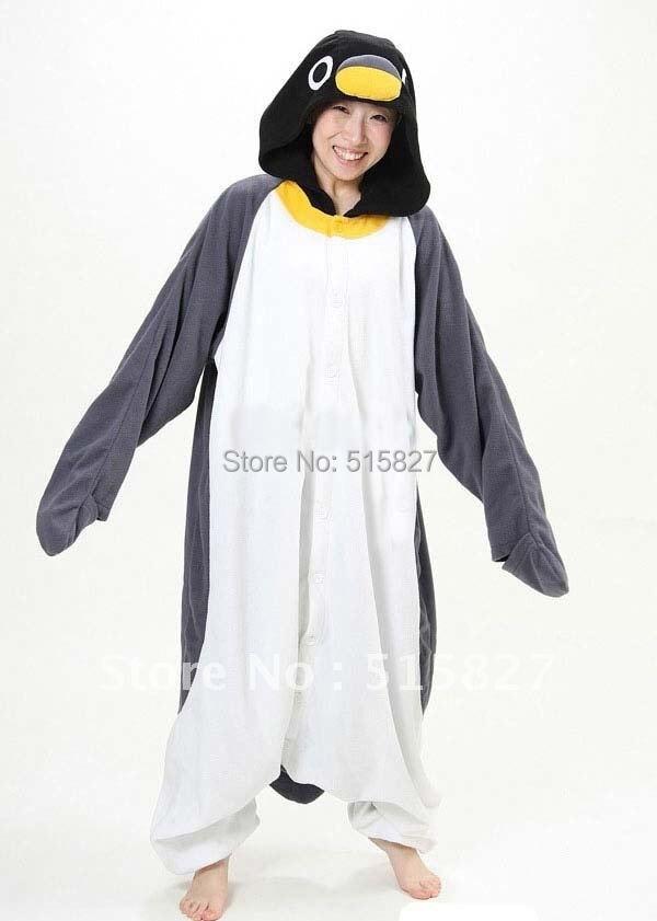 New Adult Animal Gray Penguin Cosplay Pajamas Onesie Sleepwear Costume(night Wear)