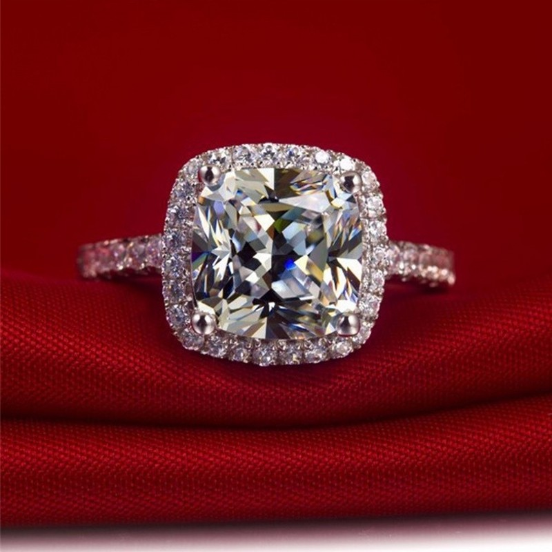 Sterling Silver 925 PRETTY PEAR DESIGN BLUE SAPPHIRE CZ ENGAGEMENT RING SIZE5-10