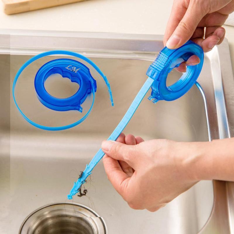 Regolabile Mini Tubo Pulitore Di Rimozione Dei Capelli Utensili Da Cucina Fogna Snake Drain Cleaner Sink Pulizia Gasdotto Draga Strumenti