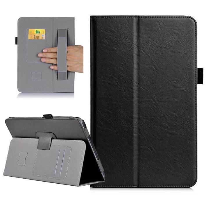 Dhl Luxury Flip Card Slots Dünne Leder Handschlaufe Buch Standinhaber Abdeckung Case Für Samsung Galaxy Tab A A6 10,1 2016 T580 T585