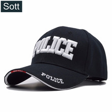 [SOTT] Police Baseball Cap Men Tactical Cap Mens Baseball Caps Brand Snapback Trucker Hat For Man Women 100% cotton Material(China)