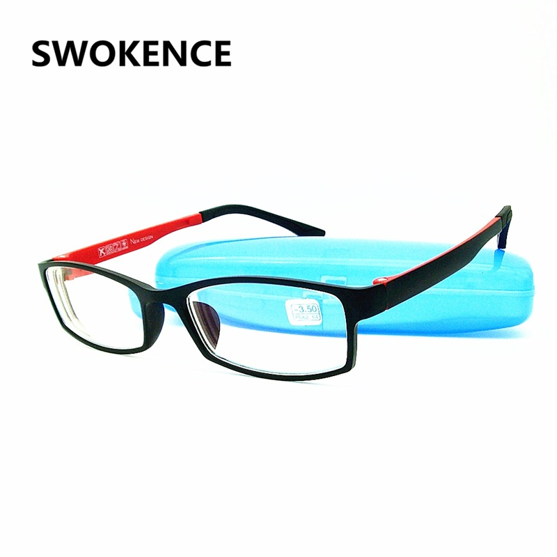 Prescription -1.0 -1.5 -2.0 -2.5 -3.0 -3.5 -4.0 Memory Frame HD Resin Finished Myopia Glasses Men Women Shortsighted Eyeglasses