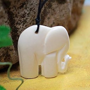 Free Shipping Cute Bangkok Thai Style Little Ivory Elephant Bone Carved Never Fade Pendant Retro Wax String Necklace Free Size Little Necklace Necklace Free Shippingnecklace Little Aliexpress