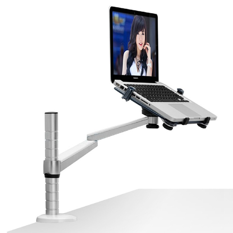 OA-1S 360 Rotation Aluminum Alloy 2 in 1 Tablet PC Holder and Laptop Stand Holder Arm Office Desktop Bracket