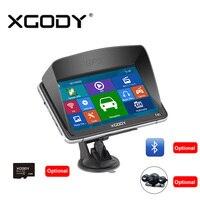 Xgody 7 Inch 740 Gps Navigator For Car And Truck 128MB 8GB Bluetooh AV IN Rear