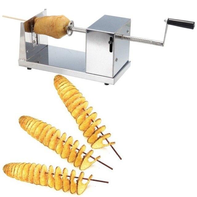 Nave de la UE! Tornillo de acero inoxidable papas fritas máquina ...