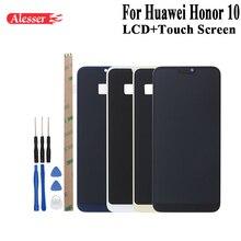 Alesser עבור Huawei Honor 10 תצוגת LCD והרכבת מסך מגע תיקון חלקי עם כלים ודבקים עבור Huawei Honor 10 טלפון