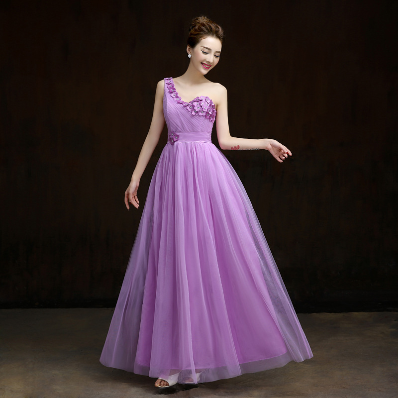 Pink bridesmaid dresses long for wedding guests sister for Formal long dresses for weddings