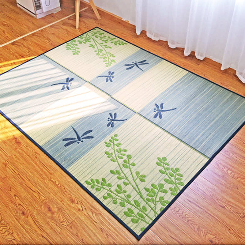 Tapis de sol japonais tapis Tatami tapis grand et grand été chambre salon tapis matelas Portable Oriental tapis 176x230cm