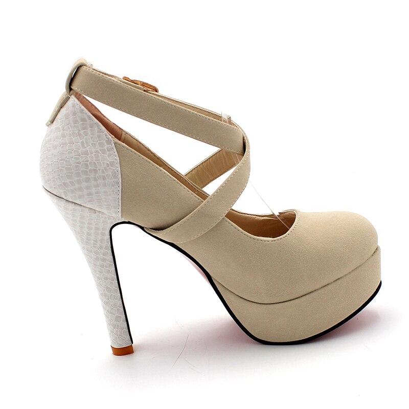 ENMAYER Plataforma de Moda Bombea Sexy Zapatos de tacón alto Tacones - Zapatos de mujer - foto 2
