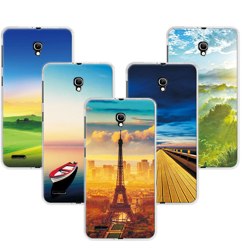 Exotic Case For Alcatel One Touch Pop 2 7043A <font><b>7043Y</b></font> 7043K / Pop 2 (5) Premium 7044 Case Cover Painting Cover Shell Capa image